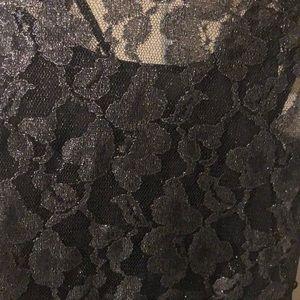 Express Dresses - Express Black shimmery skater dress- Dressy!